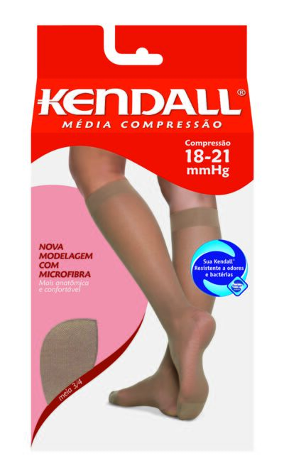 Imagem 1 do produto Meia Panturrilha 18-21 mmHg Média Kendall - MEL PONTEIRA FECHADA M