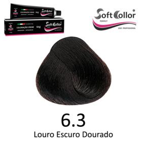 Coloracao Profissional SOFTCOLLOR PERFECT 60g - Cores: Louro Escuro - Nuance 6.3 Louro Escuro Dourado