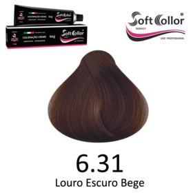 Coloracao Profissional SOFTCOLLOR PERFECT 60g - Cores: Louro Escuro - Nuance 6.31 Louro Escuro Bege
