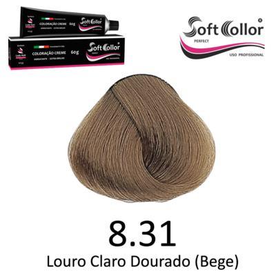 Coloracao Profissional SOFTCOLLOR PERFECT 60g - Cores: Louro Claro - Nuance 8.31 Louro Claro Dourado Bege