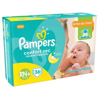 Imagem 1 do produto Fralda Pampers Confort Sec Recém Nascido 36 Unidades