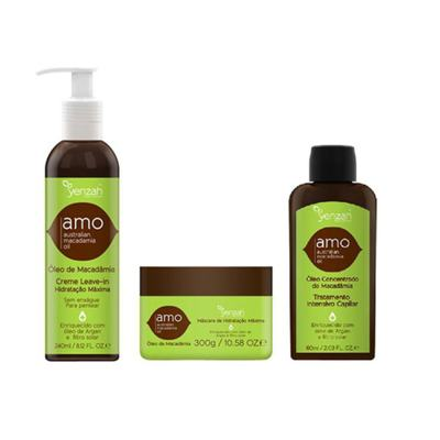 Imagem 1 do produto Kit Creme para Pentear + Máscara + Tratamento Disciplinador  Yenzah Amo - Kit