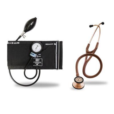 Imagem 6 do produto Kit Esteto Littmann Cardiology III Chocolate Cobre com Aparelho de Pressão Bic Preto