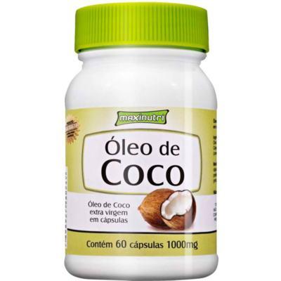 Imagem 1 do produto Óleo de Coco Extra Virgem 60Cps - Maxinutri - 60Cps