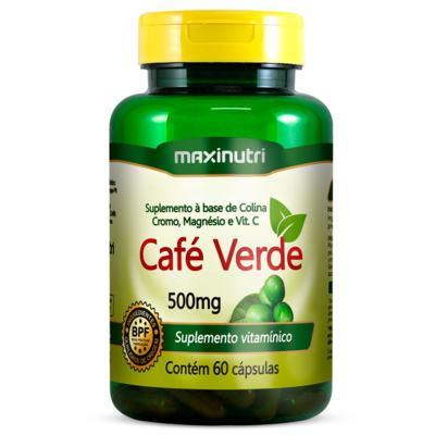 Imagem 1 do produto Café Verde Com Colina/Cromo/Magnésio e Vitamina C 60cps - Maxinutri - 60cps