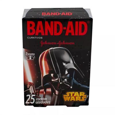 Imagem 1 do produto Curativos Band Aid Johnson & Johnson Decorados Star Wars 2 Tamanhos 25 Unidades