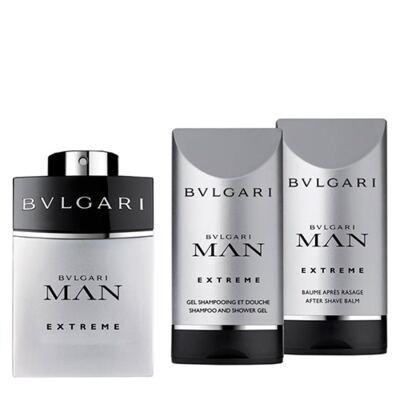 BVLGARI Pour Homme Extreme BVLGARI - Masculino - Eau de Toilette - Perfume + Gel de Banho + Loção Pós Barba - Kit
