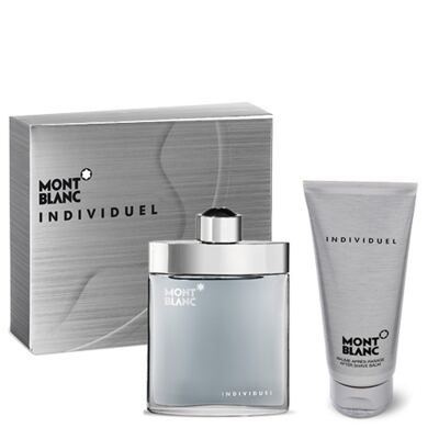 Imagem 1 do produto Individuel Montblanc - Masculino - Eau de Toilette - Perfume + Loção Pós Barba - Kit
