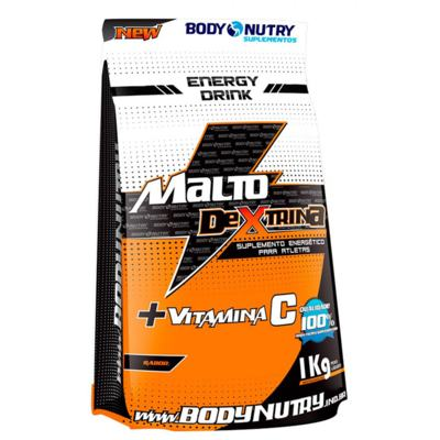 Malto+Vit C 1Kg - Body Nutry - Morango