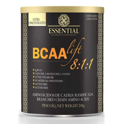 Bcaalift 8:1:1 210G - Essential Nutrition - Bcaalift 8:1:1 210G - Essential - Limão