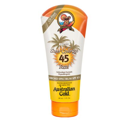 Sheer Coverage Faces SPF 45 Australian Gold - Protetor Solar - 88ml