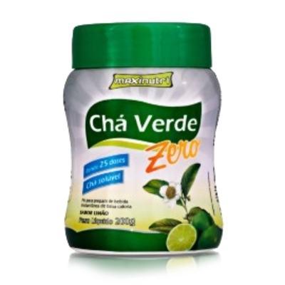 Imagem 1 do produto Chá Verde Solúvel Zero 200g Limão - Maxinutri - 200g