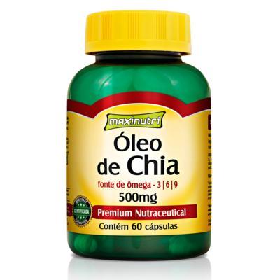 Imagem 1 do produto Óleo de Chia 60Cps - Maxinutri - 60Cps