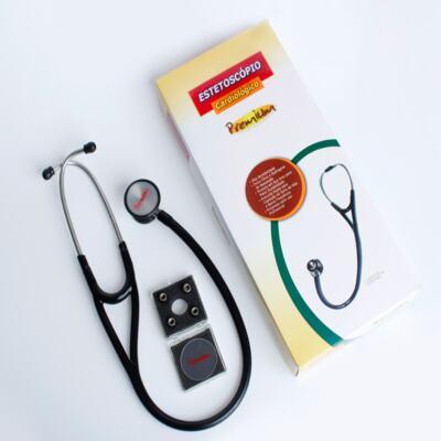 Imagem 2 do produto Kit Esteto Cardiológico Preto com Aparelho de Pressão Preto Premium