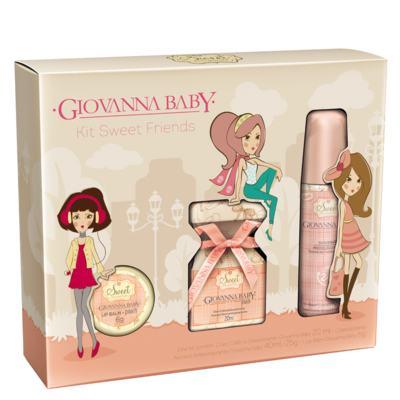 Kit Sweet Friends Peach Giovanna Baby - Perfume 20ml + Desodorante 40ml + Lip Balm 6g - Kit