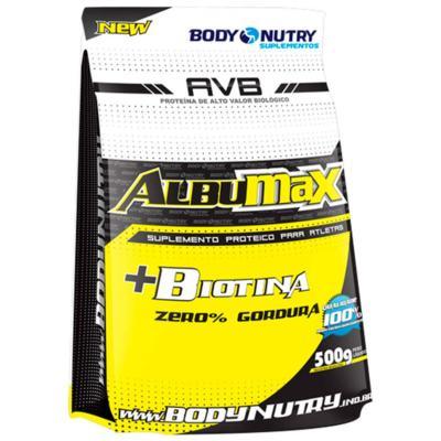 Total Albumax + Biotina 500g - Body Nutry - Morango