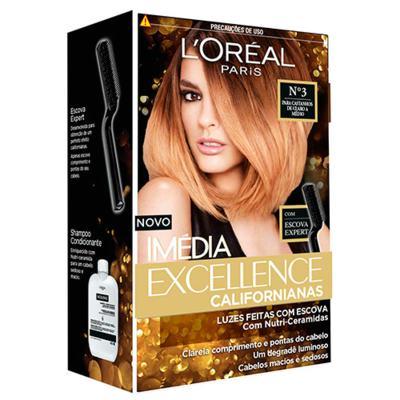 Tintura para Cabelos L'oréal Paris Imédia Excellence Californianas - 3 - Castanhos de claro a médio