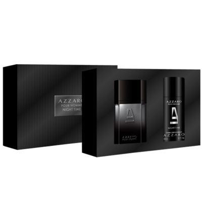 Imagem 1 do produto Azzaro Night Time Azzaro - Masculino - Eau de Toilette - Perfume + Desodorante - Kit