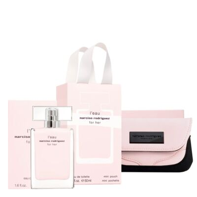 Imagem 1 do produto L'eau For Her Narciso Rodriguez - Feminino - Eau de Toilette - Perfume + Nécessaire - Kit