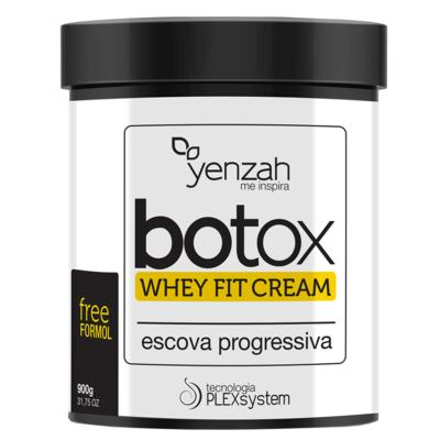 Botox Whey Fit Cream Yenzah - Escova Progressiva - 900g