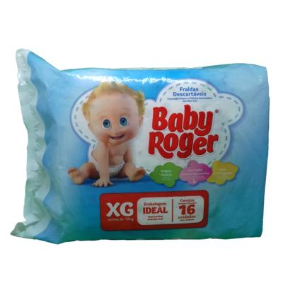 Fralda Descartável Baby Roger XG com 16 Unidades