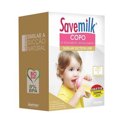 Copo Antivazamento Rosa SaveMilk 120ml