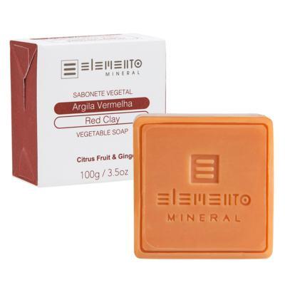 Sabonete em Barra Elemento Mineral - Argila Vermelha - 100g