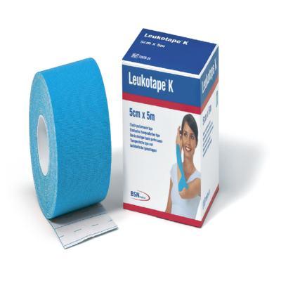 Imagem 1 do produto Leukotape 5 cm  X 5 m Azul Celeste BSN Medical - Leukotape 5 cm X 5 m Azul Celeste BSN Medical