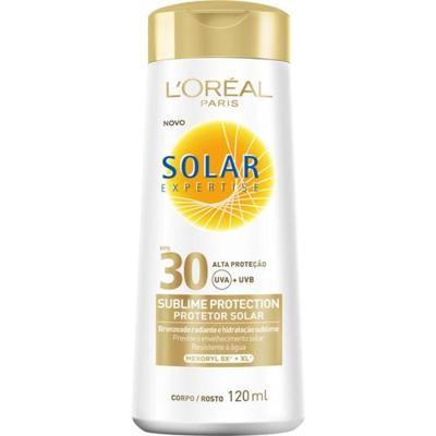 Protetor Solar L'Oréal Paris Solar Expertise Sublime Protection SPF 30 - 120ml