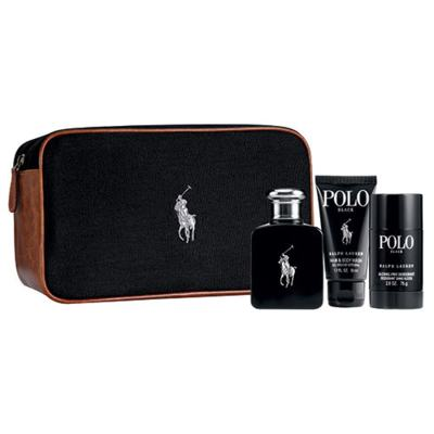 Polo Black Ralph Lauren - Masculino - Eau de Toilette - Perfume + Gel de Banho + Desodorante - kit