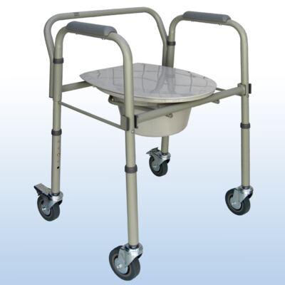 Cadeira de Banho em Aço Dobrável e Regulável S-CMF202-W Praxis