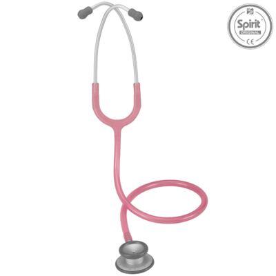 Imagem 2 do produto Kit Esteto Spirit Pro-Lite Rosa Perolizado com Aparelho de Pressão Bic Rosa