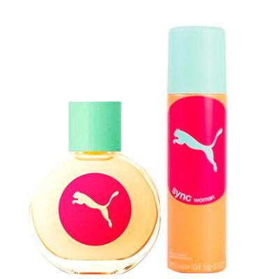 Sync For Women Puma - Feminino - Eau de Toilette - Perfume + Desodorante - Kit