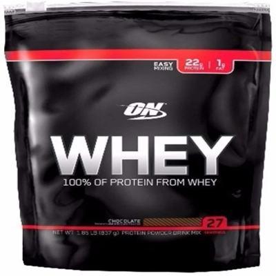 Imagem 1 do produto Whey Protein 100% Refil 837g - Optimum - Chocolate