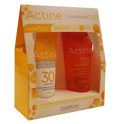 Imagem 1 do produto Darrow Actine - Sabonete Líquido + Protetor Solar Hidratante - Kit