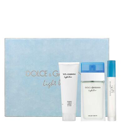 Imagem 1 do produto Light Blue Dolce & Gabbana - Feminino - Eau de Toilette - Perfume + Miniatura + Gel de Banho - Kit