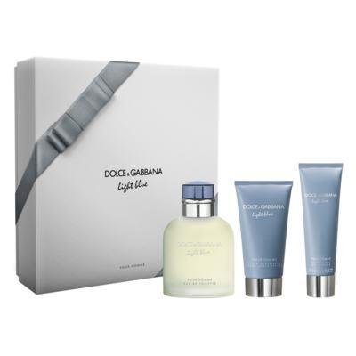 Dolce&Gabbana Light Blue Homme  Kit - Eau de Toilette + Gel de Banho + Pós-Barba - Kit