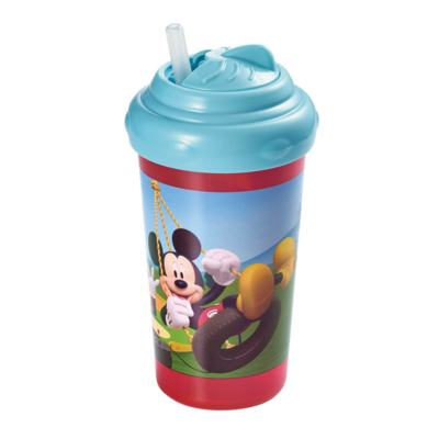 Copo Com Canudo De Silicone 300Ml Mickey Multikids Baby - BB082 - BB082