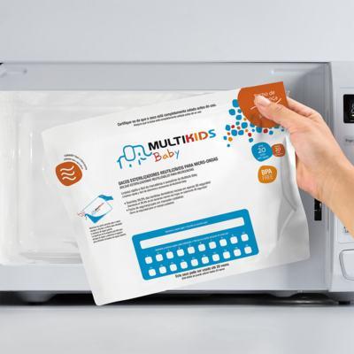 Imagem 1 do produto Saquinhos Para Esterilizar No Microondas 6Pcs Multikids Baby - BB157 - BB157