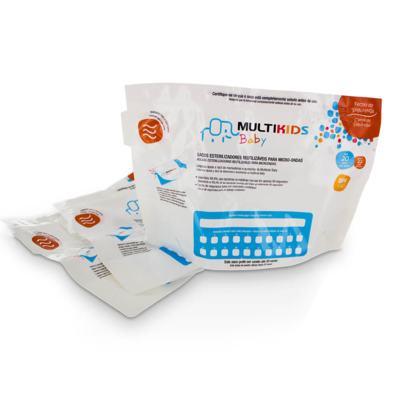 Imagem 2 do produto Saquinhos Para Esterilizar No Microondas 6Pcs Multikids Baby - BB157 - BB157