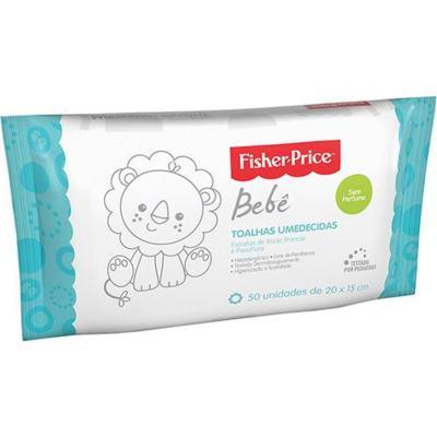 Lenços Umedecidos Fisher Price Bebê  Sem Perfume - Sem Perfume | 50 unidades