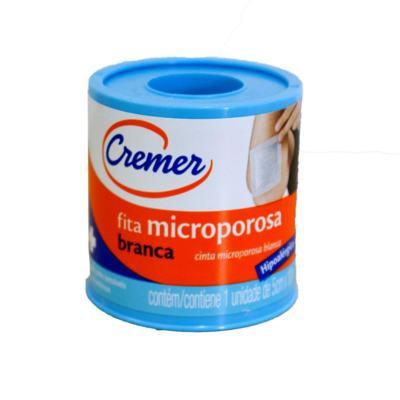 Fita Microporosa Cremer Branca Hipoalérgica 5cm x 4,5m