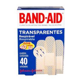 Band Aid Transparentes respirável - 40 unidades   Leve 40 Pague 30