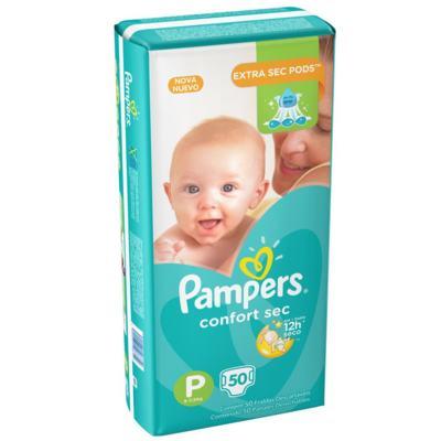 Imagem 10 do produto Fralda Pampers Confort Sec P 50 unidades -