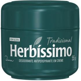 Desodorante Herbíssimo - tradicional, creme,   55g