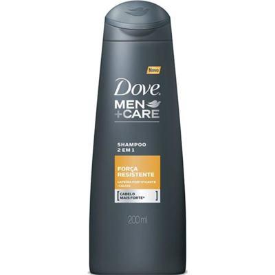 Shampoo 2 em 1 Dove Men+Care - Força Resistente | 200ml