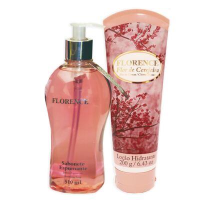 Imagem 1 do produto Flor de Cerejeira Florence - Kit Sabonete Espumante 510ml + Loção Corporal 200g - Kit