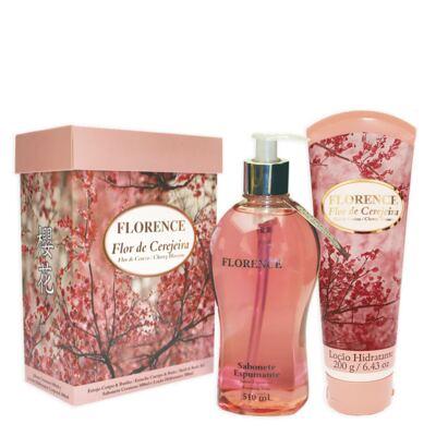 Imagem 3 do produto Flor de Cerejeira Florence - Kit Sabonete Espumante 510ml + Loção Corporal 200g - Kit