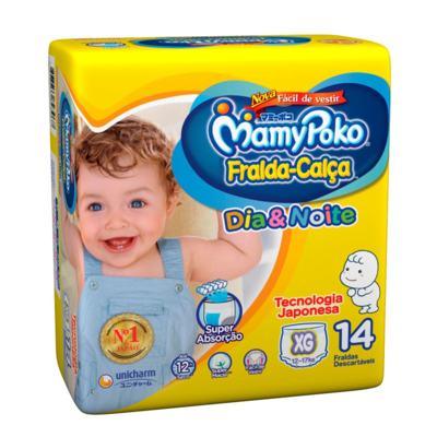 Imagem 1 do produto Fralda Calça MamyPoko Dia & Noite XG 14 Unidades