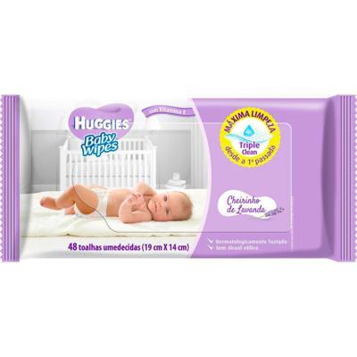 Imagem 1 do produto Lenço Umedecido Huggies Baby Wipes Cheirinho de Lavanda 48 Unidades
